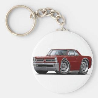 1965 GTO Maroon Car Key Ring