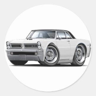 1965 GTO White-Black Top Round Sticker