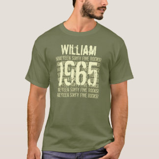 1965 or Any Year Rocks 50th Birthday Gift V2D T-Shirt