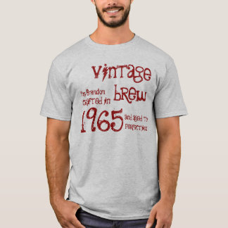 1965 or ANY YEAR Vintage Brew 50th Birthday Gray T-Shirt