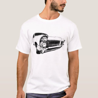 1965 Pontiac Grand Prix in White T-Shirt