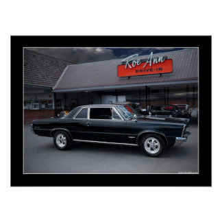 1965 Pontiac GTO Muscle Car Drive-In Poster