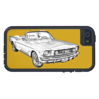 1965 Red Ford Mustang Convertible Digital Drawing iPhone 5 Cover