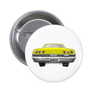 1965 Yellow Chevy Pass Envy 6 Cm Round Badge