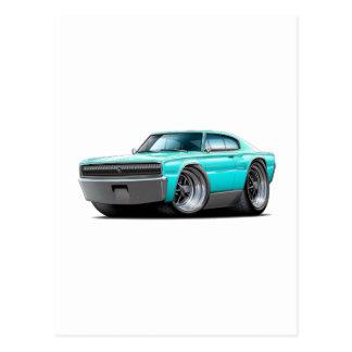 1966-67 Charger Aqua Car Postcard