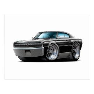 1966-67 Charger Black Car Postcards