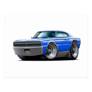 1966-67 Charger Blue Car Post Card