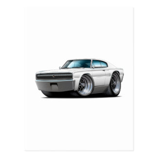 1966-67 Charger White Car Postcards