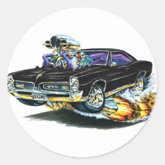 1966-67 GTO Black Car Classic Round Sticker