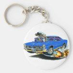 1966-67 GTO Blue Car Basic Round Button Key Ring