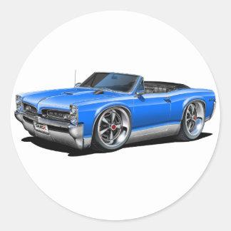 1966/67 GTO Blue Convertible Round Sticker