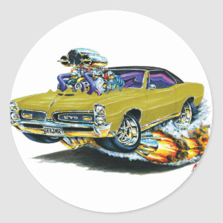 1966-67 GTO Gold Car Round Sticker