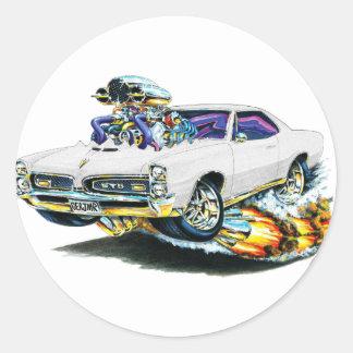 1966-67 GTO White Car Round Stickers