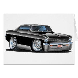 1966-67 Nova Black Car Card