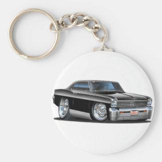 1966-67 Nova Black Car Key Ring