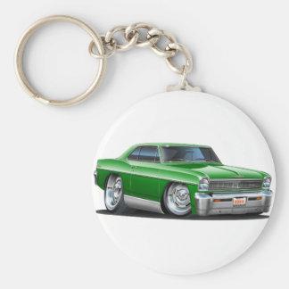 1966-67 Nova Green Car Key Ring