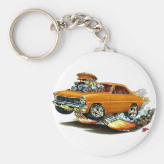1966-67 Nova Orange Car Basic Round Button Key Ring
