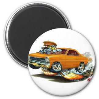 1966-67 Nova Orange Car Magnet