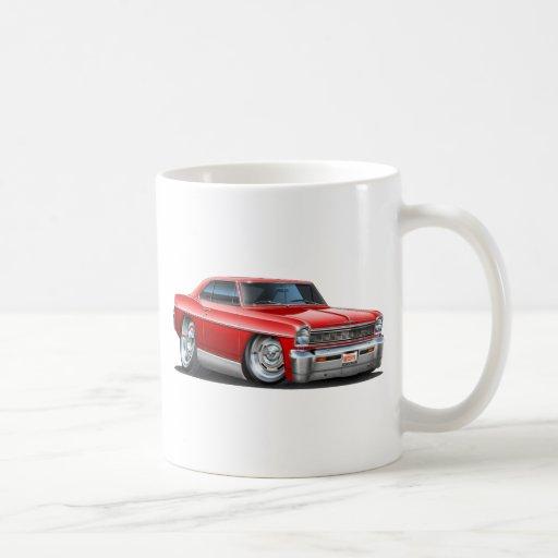 1966-67 Nova Red Car Classic White Coffee Mug