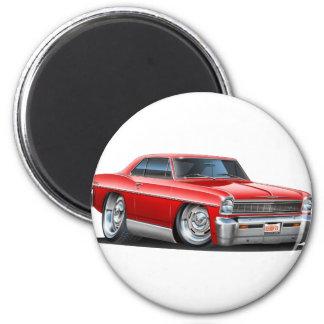 1966-67 Nova Red Car Magnet