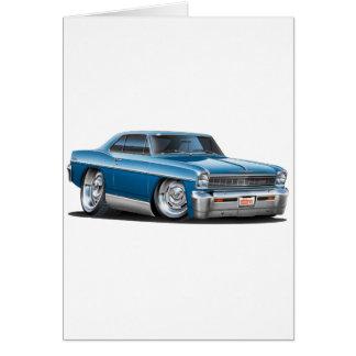 1966-67 Nova Teal Car Card