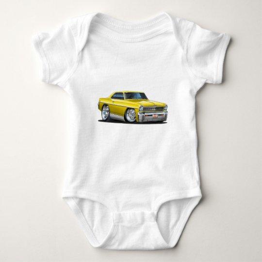 1966-67 Nova Yellow Car Baby Bodysuit