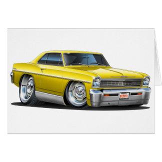 1966-67 Nova Yellow Car Card