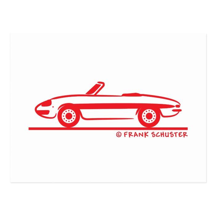 1966 Alfa Romeo Duetto Spider Veloce Postcard