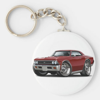 1966 Chevelle Maroon Car Basic Round Button Key Ring