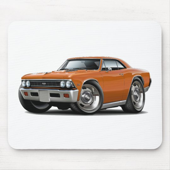 1966 Chevelle Orange Car Mouse Mat