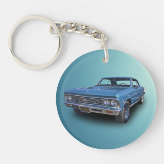 1966 CHEVROLET CHEVELLE SS Single-Sided ROUND ACRYLIC KEY RING