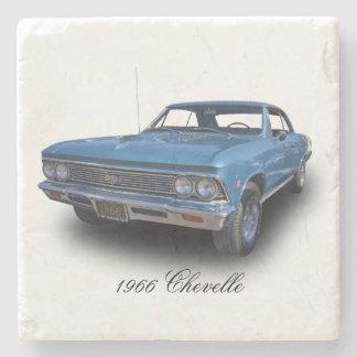 1966 CHEVROLET CHEVELLE SS STONE BEVERAGE COASTER