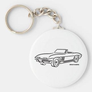 1966 Chevrolet Corvette Basic Round Button Key Ring