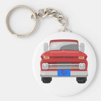 1966 Chevrolet Pickup Basic Round Button Key Ring
