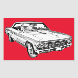 1966 Chevy Chevelle SS 396 Illustration Stickers