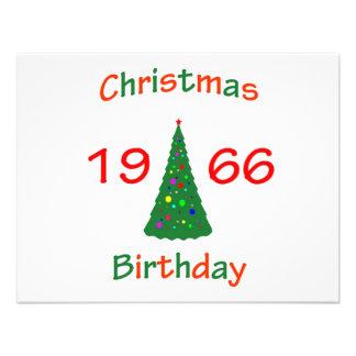 1966 Christmas Birthday Invites