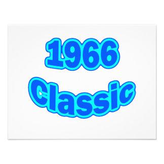 1966 Classic Blue Personalized Invitations