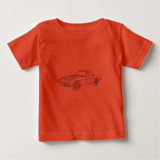 1966 Corvette Roadster - Lt Fabric Baby T-Shirt