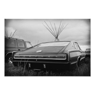 1966 Dodge Charger (B/W) Photo Print