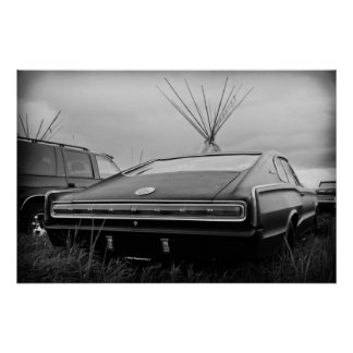 1966 Dodge Charger (B/W) Poster
