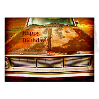 1966 Dodge Dart Rusty Antique Car Card
