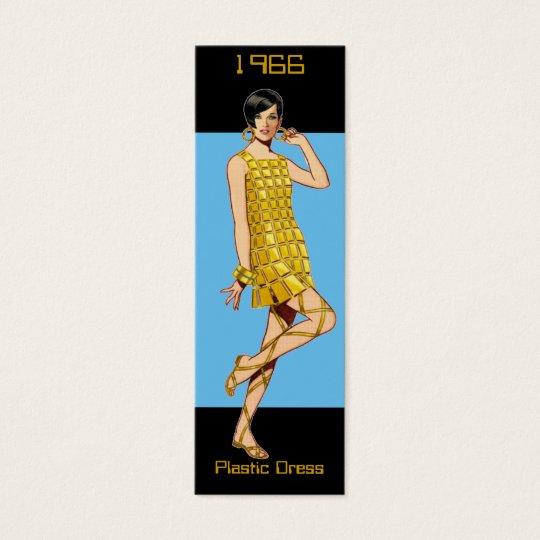 1966 Fashion Bookmark Mini Business Card