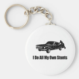 1966 Ford Mustang Fastback Basic Round Button Key Ring