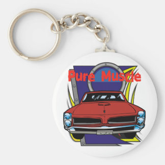 1966 GTO Muscle Car Key Ring