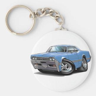 1966 Olds Cutlass Lt Blue Car Basic Round Button Key Ring