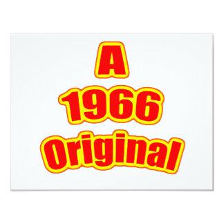 1966 Original Red 11 Cm X 14 Cm Invitation Card