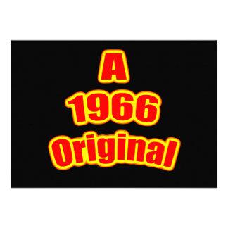 1966 Original Red Blk Personalized Invite