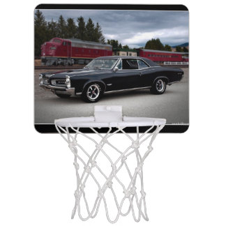 1966 Pontiac GTO Muscle Car Locomotive Train Mini Basketball Hoop