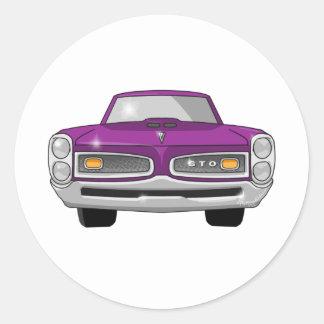 1966 Pontiac GTO Round Sticker