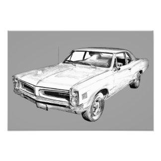 1966 Pontiac Lemans Car Illustration Photo Print